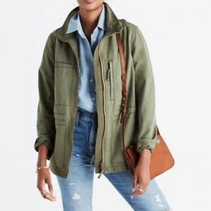 Madewell   Army Green Zip Jacket - A35